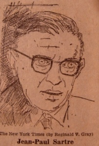 Sartre by Reginald Gray (1965, Public Domain)